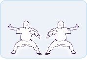 Taikiken Hachidankin, Draw the bow to the left and right