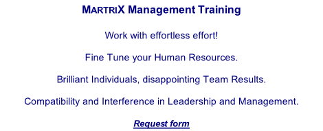 MartriX management training